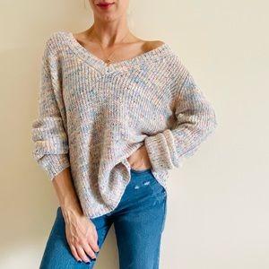 New BB Dakota v neck loose Pullover sweater